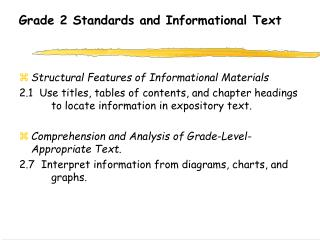 Grade 2 Standards and Informational Text