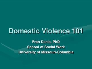 Domestic Violence 101