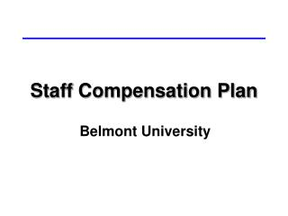 Staff Compensation Plan