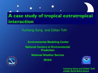 A case study of tropical extratropical interaction