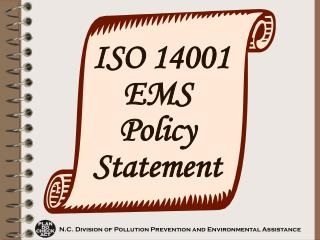 ISO 14001 EMS Policy Statement