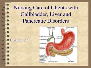 Nursing Care of Clients with Gallbladder, Liver and Pancreatic Disorders