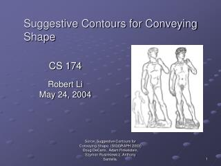 Suggestive Contours for Conveying Shape