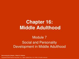 Chapter 16:  Middle Adulthood