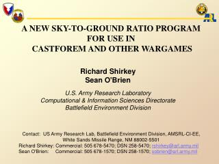 A NEW SKY-TO-GROUND RATIO PROGRAM  FOR USE IN  CASTFOREM AND OTHER WARGAMES