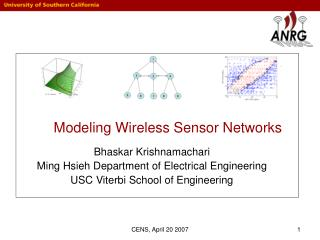 Modeling Wireless Sensor Networks