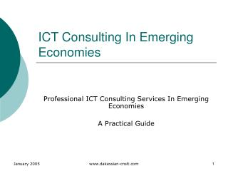 ICT Consulting In Emerging Economies