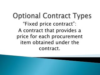 Optional Contract Types