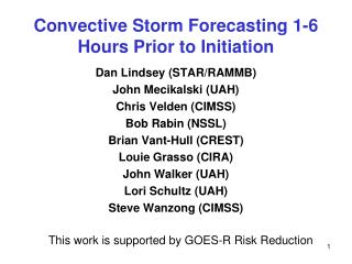 Convective Storm Forecasting  1-6 Hours Prior to Initiation