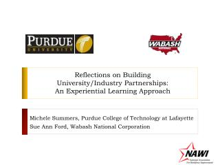 Reflections on Building  University/Industry Partnerships:  An Experiential Learning Approach