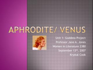 Aphrodite/ Venus