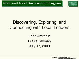 Discovering, Exploring, and Connecting with Local Leaders