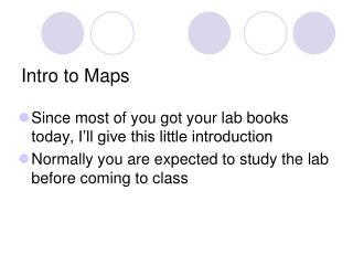 Intro to Maps
