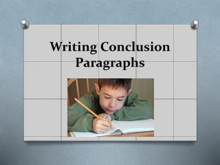 Writing Conclusion Paragraphs