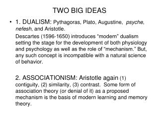 TWO BIG IDEAS