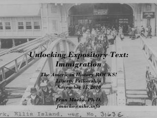 Unlocking Expository Text: Immigration