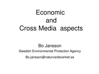 Economic  and  Cross Media  aspects