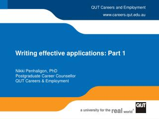 Writing effective applications: Part 1