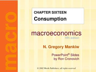 CHAPTER SIXTEEN Consumption