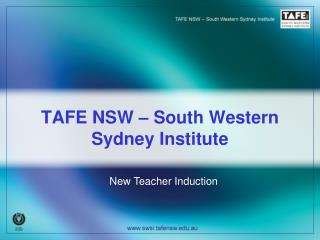 TAFE NSW � South Western Sydney Institute