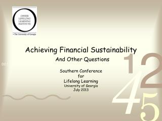 Achieving Financial Sustainability