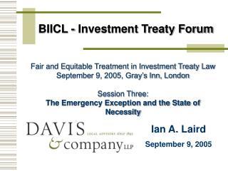 BIICL - Investment Treaty Forum