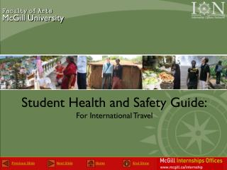 Student Health and Safety Guide: For International Travel