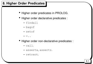 8. Higher Order Predicates