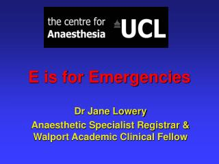 E is for Emergencies