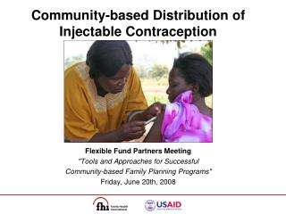 Community-based Distribution of Injectable Contraception