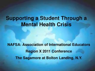 Supporting a Student Through a Mental Health Crisis
