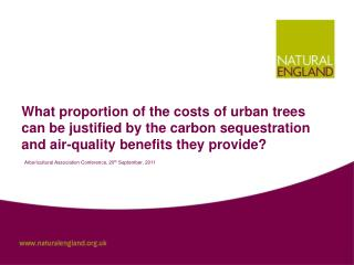 What proportion of the costs of urban trees can be justified by the carbon sequestration and air-quality benefits they