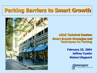 Parking Barriers to Smart Growth