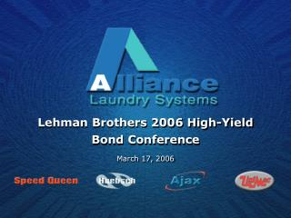 Lehman Brothers 2006 High-Yield  Bond Conference