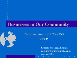 Businesses in Our Community