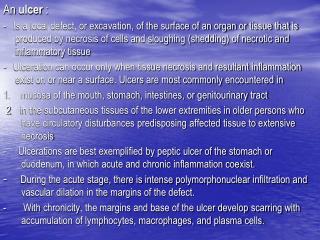 An  ulcer  :