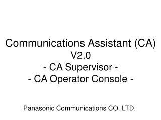 Panasonic Communications CO.,LTD.