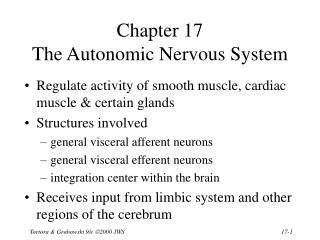 Chapter 17  The Autonomic Nervous System