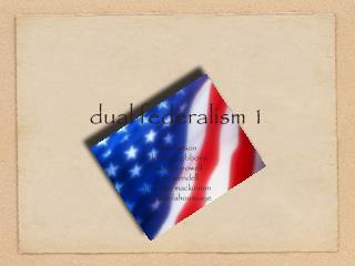 dual federalism 1