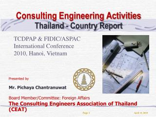 Consulting Engineering Activities  Thailand - Country Report