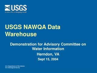USGS NAWQA Data Warehouse
