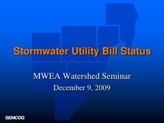 Stormwater Utility Bill Status