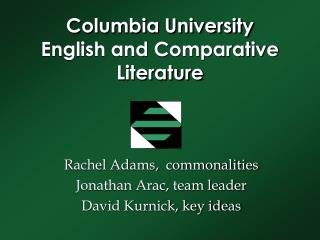 Columbia University English and Comparative Literature