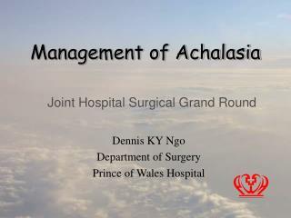 Management of Achalasia