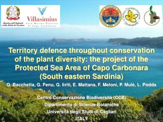 Territory defence throughout conservation  of the plant diversity: the project of the Protected Sea Area of Capo Carbon
