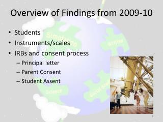 Overview of Findings from 2009-10