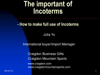 The important of Incoterms  - How to make full use of Incoterms