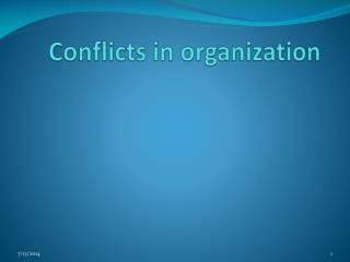 Conflicts in organization