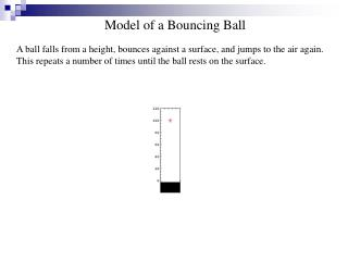 Model of a Bouncing Ball