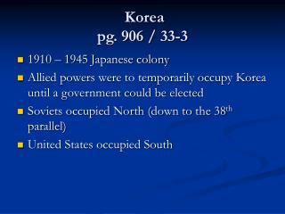 Korea  pg. 906 / 33-3